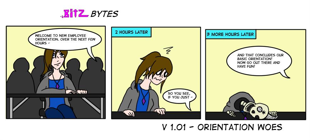 Bitz Bytes 1 - Orientation Woes